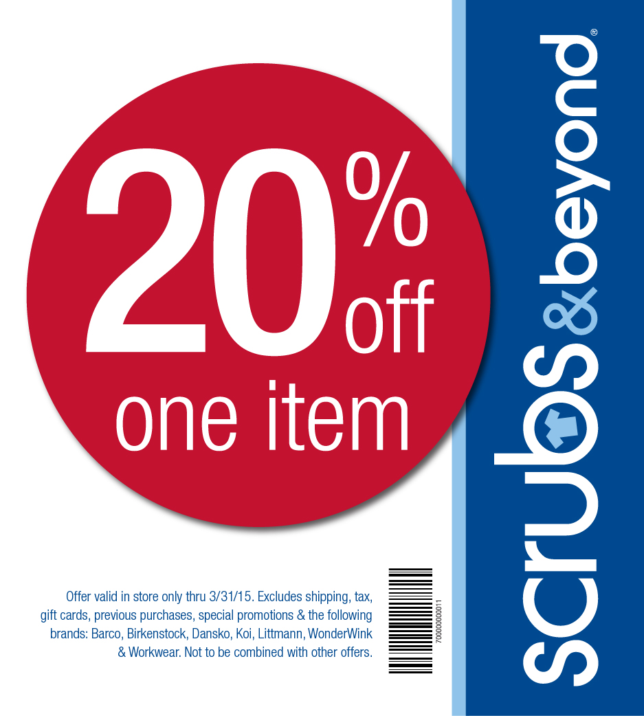 scrubs and beyond coupons in store