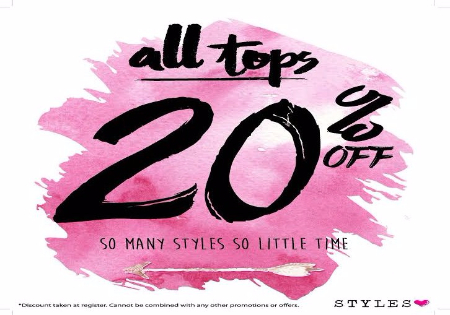 20% off All Tops