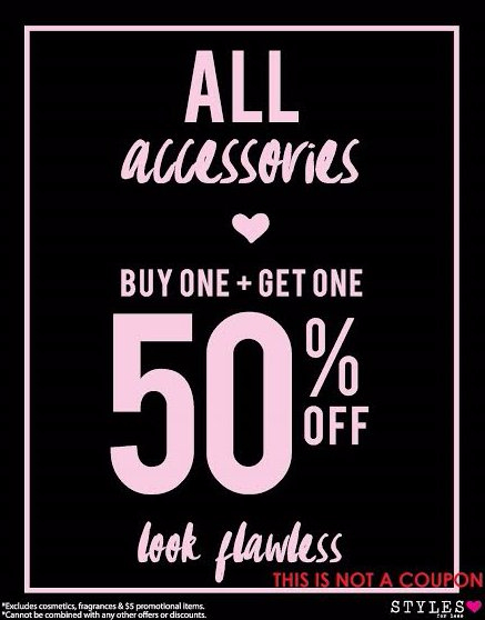 All Accessories B1G1 50% Off