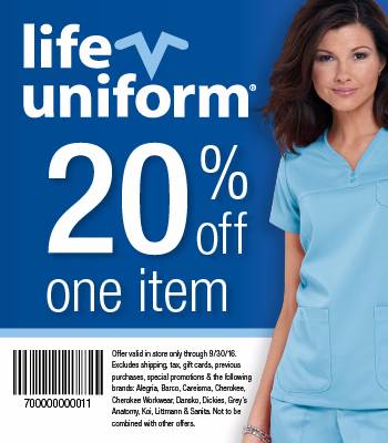 Life Uniform November Coupon Codes. Brand name scrubs, shoes and nursing accessories for fashion forward medical professionals. Get the latest scrub styles and trends at Scrubs and Beyond.